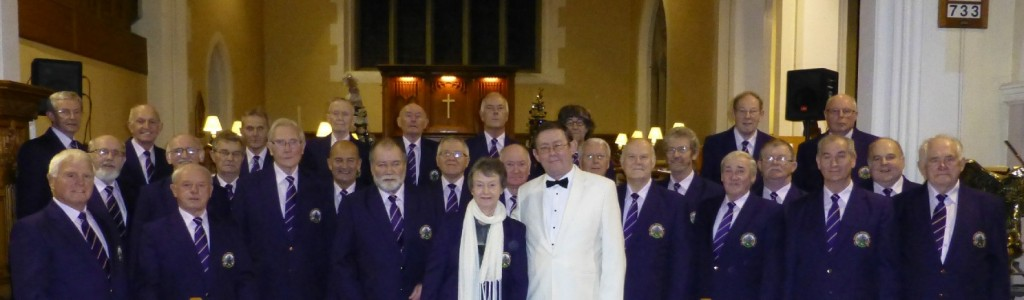 Joyce, Arwyn and the Denbigh and District Male Voice Choir