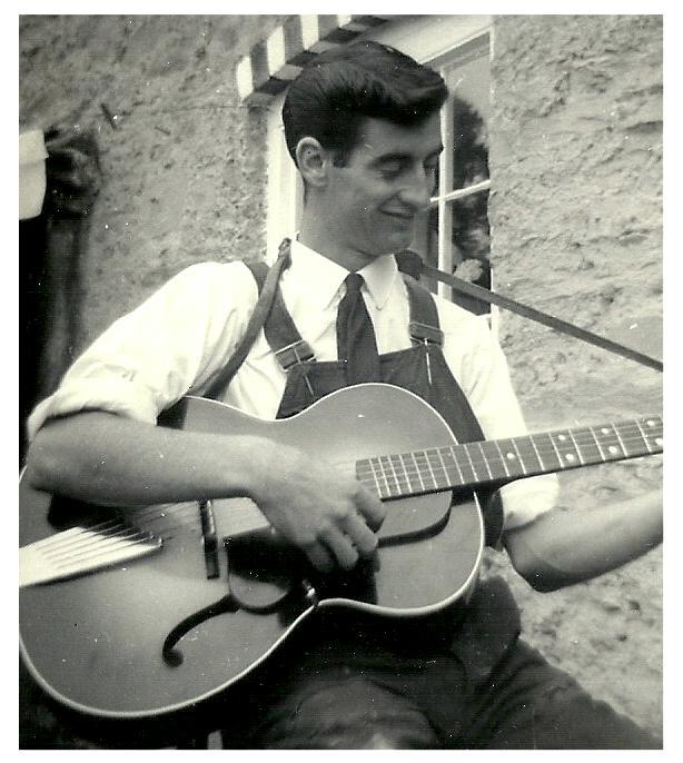 Choir Member Iorwerth in his Guitar Days