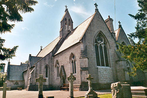 Wedding at Holy Trinity Church, Trefnant