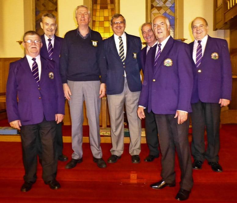 Choir Camaraderie at St John's Church John Giddings and Dave Lycett (3rd & 4th from left)