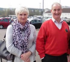 Choir member Iorwerth and wife Ann on Lincoln Choir Trip