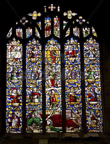 Jesse Window at St Dyfnog's Church Llanrhaeadr