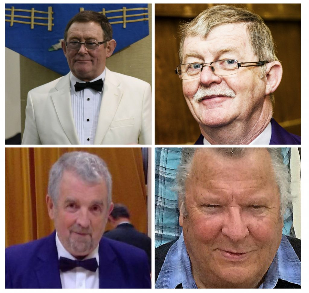 Arwyn Roberts, Geraint Roberts, John Price and Reg Jones - Members of Corws Colin Jones