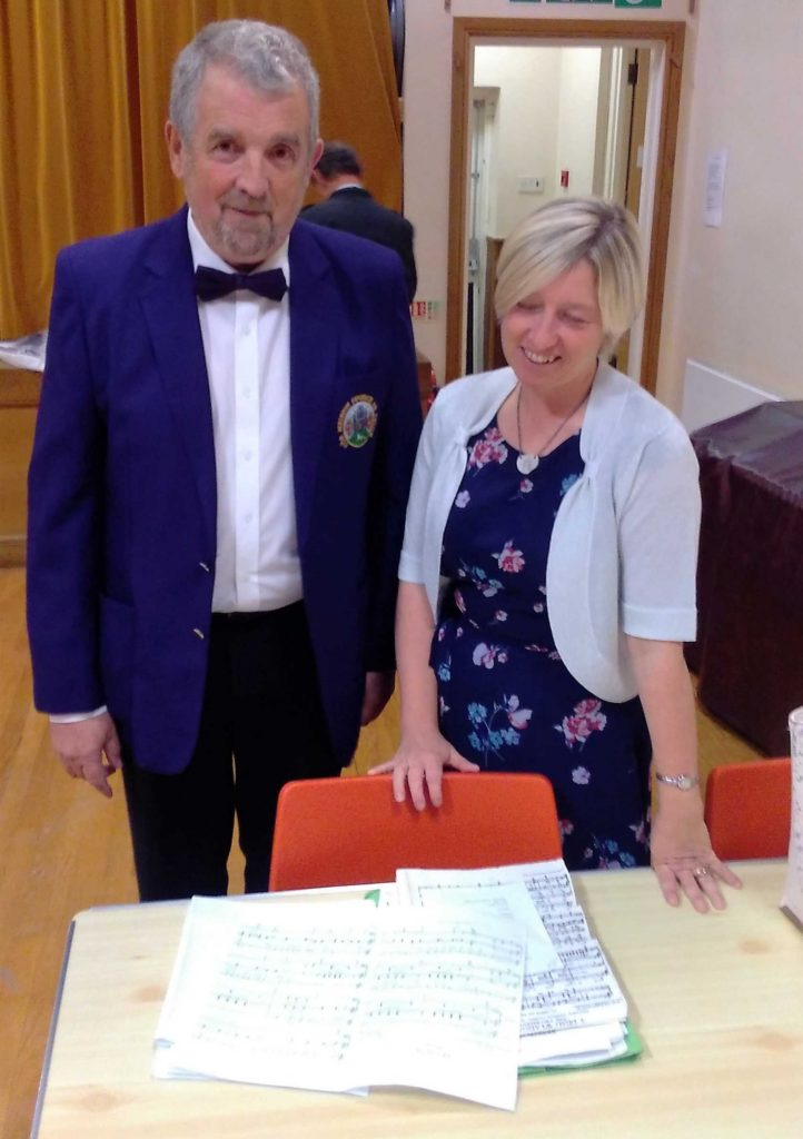 John Price and Nia Jones check the Musical Scores at St John's Church