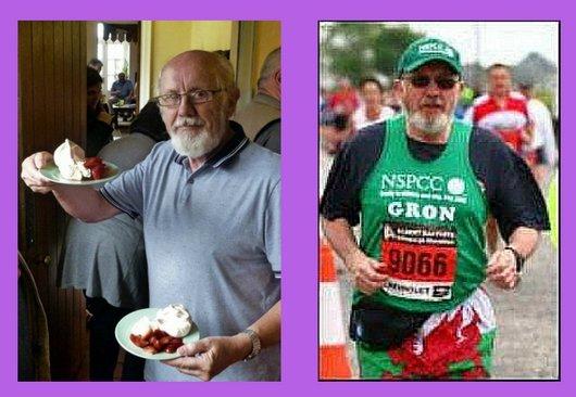 Gron Wynne Runs Off Choir Cream Tea in the London Marathon
