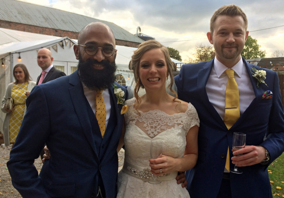Wedding of Sam and Emma with Best Man