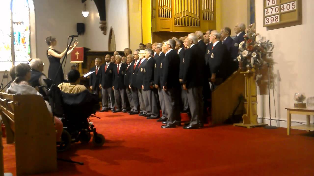 Denbigh and District Male Voice Choir's joint concert at St.John's Church. Llandudno, 27th June 2015 with Avon and Somerset Constabulary Male Voice Choir
